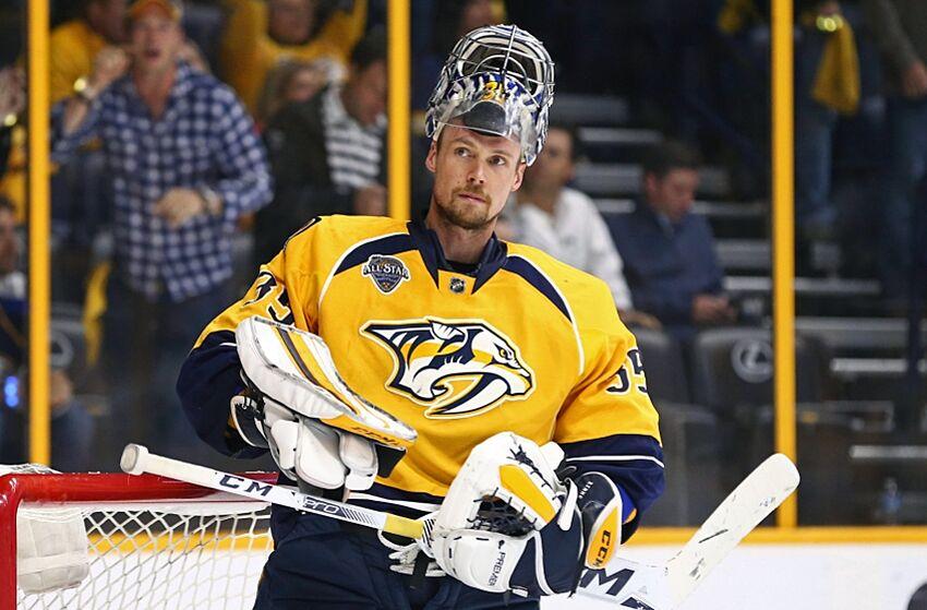 Nashville Predators goalie Pekka Rinne (35) . Mandatory Credit  Aaron  Doster-USA 81f2c9cf0d1
