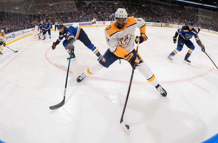 online store 048b5 a9cb5 Looking Back On The Nashville Predators Trade For Wayne Simmonds