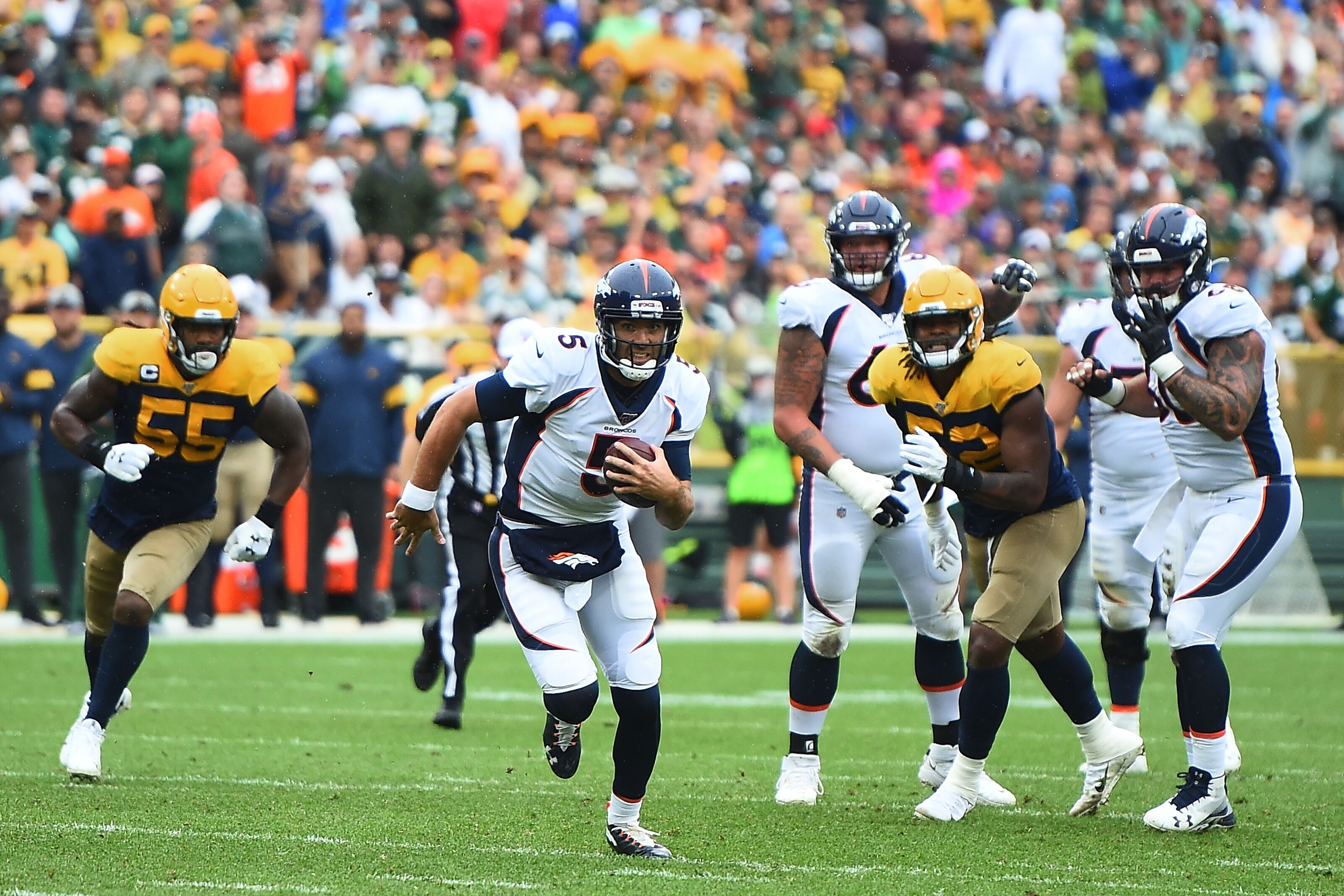 Denver Broncos fairing well against Green Bay Packers