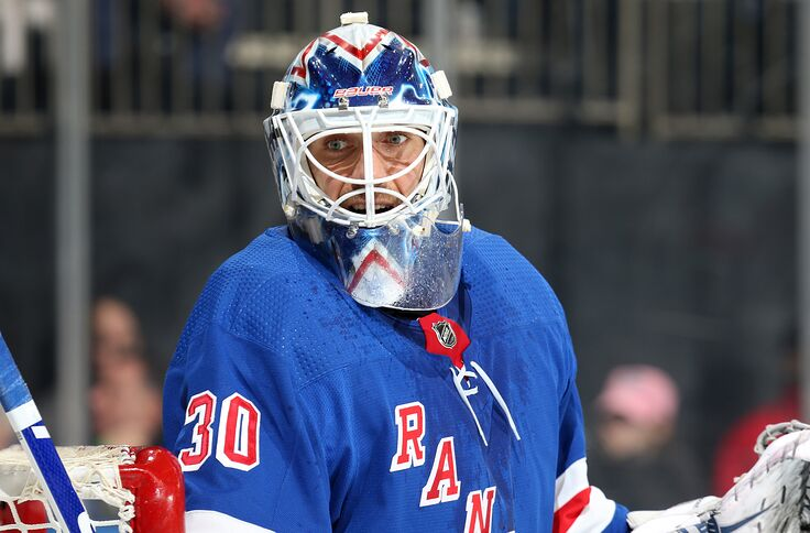 sale retailer 17f1f 39c04 New York Rangers: Will Henrik Lundqvist reach 450 wins this ...