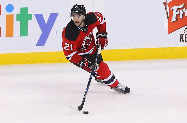 new style 70c6f 1b2f4 New Jersey Devils: Kyle Palmieri Files for Arbitration