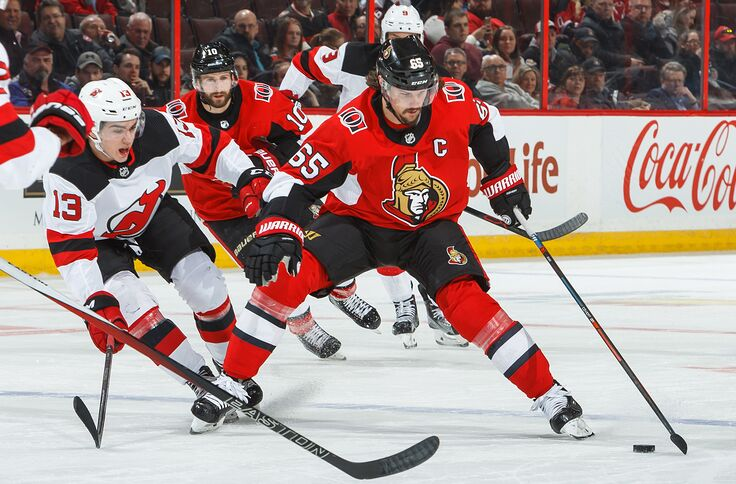 huge discount 3f938 8e9ba New Jersey Devils Tied To Erik Karlsson Trade. What Might It ...