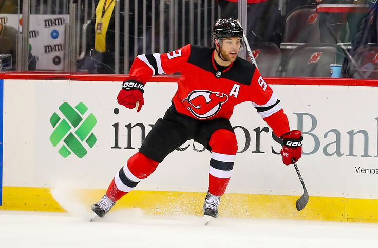 the latest 48eaa e5614 New Jersey Devils Win Highlighted By Taylor Hall's Big Night