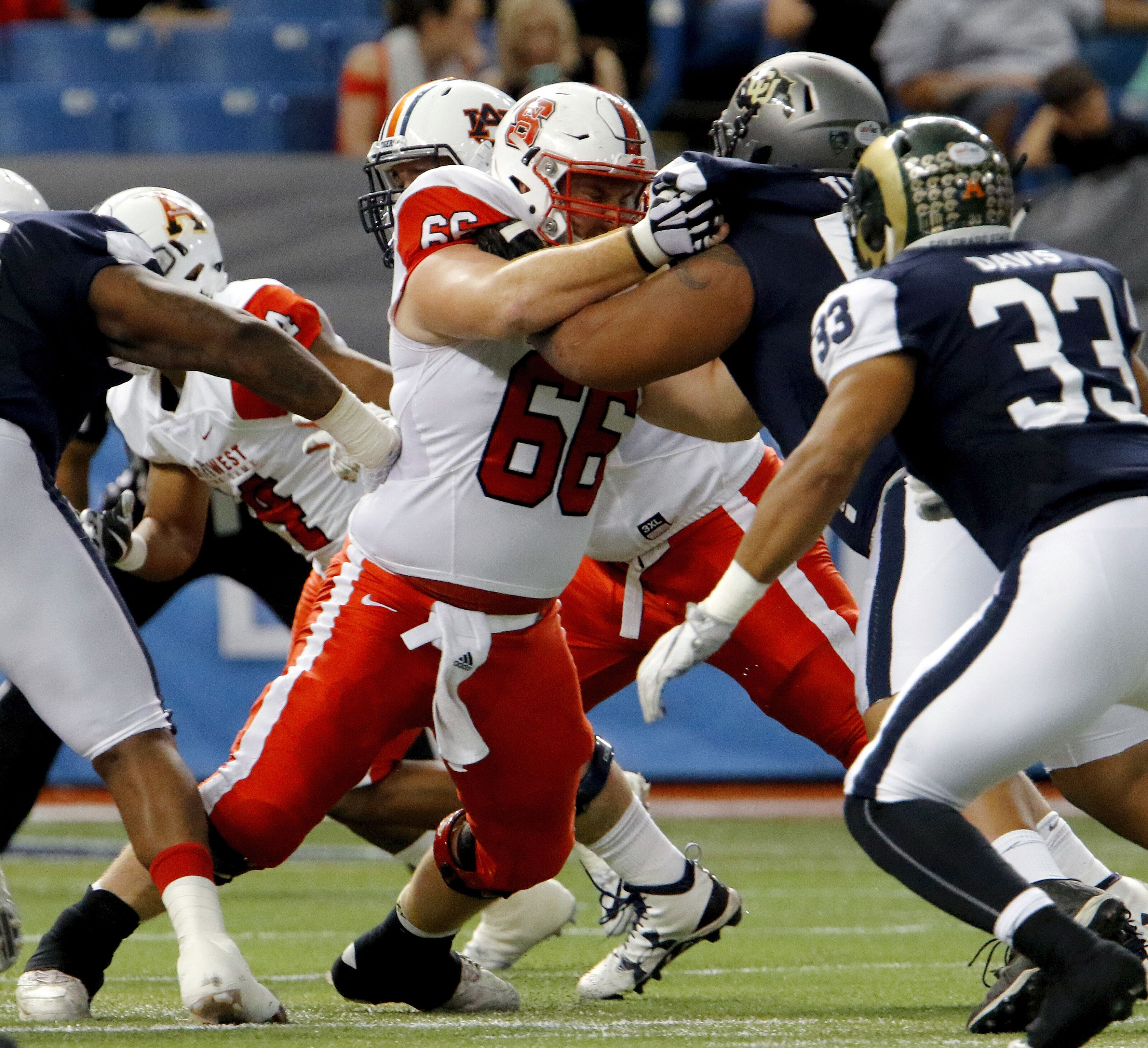 LA Rams Mock Draft: late round OL prospects abound in Shrine game