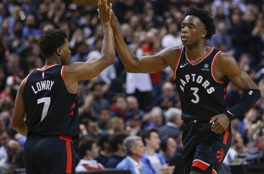 Toronto Raptors - OG Anunoby and Kyle Lowry (Rick Madonik Toronto Star via  Getty de04174a6