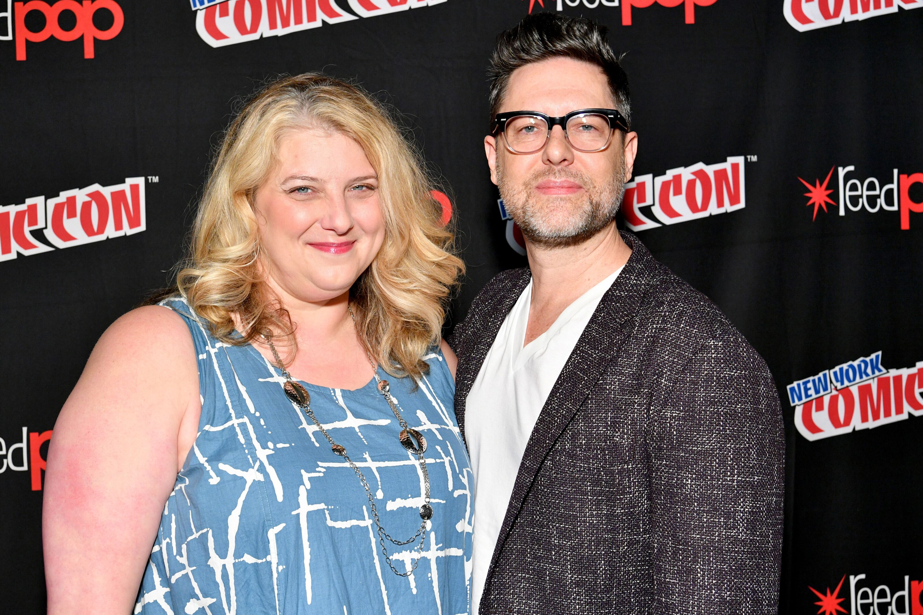 NEW YORK, NY - OCTOBER 07: Executive Producers Gretchen J. Berg and Aaron Harberts attend the Star Trek: Discovery panel during 2017 New York Comic Con - Day 3 at Theater at Madison Square Gardenon October 7, 2017 in New York City. (Photo by Dia Dipasupil/Getty Images)