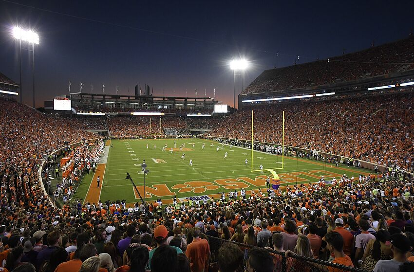 CLEMSON, SOUTH CAROLINA - SEPTEMBER 21: A general view of the Clemson Tigers' football game against the Charlotte 49ers at Memorial Stadium on September 21, 2019 in Clemson, South Carolina. (Photo by Mike Comer/Getty Images)
