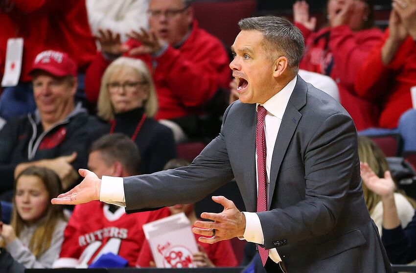 PISCATAWAY, NJ - JANUARY 09: Head coach Chris Holtmann of the Ohio State Buckeyes reacts during the second half a game against the Rutgers Scarlet Knights at Rutgers Athletic Center on January 9, 2019 in Piscataway, New Jersey. Rutgers defeated Ohio State 64-61. (Photo by Rich Schultz/Getty Images)