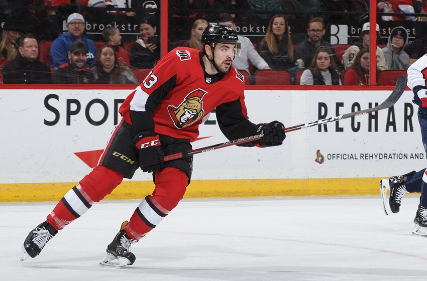 OTTAWA, ON - DECEMBER 29: Nick Paul #13 of the Ottawa Senators skates against the Washington Capitals at Canadian Tire Centre on December 29, 2018 in Ottawa, Ontario, Canada. (Photo by Andre Ringuette/NHLI via Getty Images)