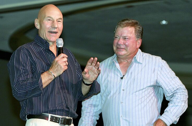 Star Trek: Patrick Stewart welcomed back to by Shatner and