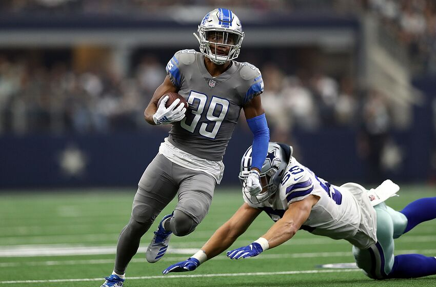 ARLINGTON, TX - SEPTEMBER 30: Jamal Agnew #39 of the Detroit Lions at AT&T Stadium on September 30, 2018 in Arlington, Texas. (Photo by Ronald Martinez/Getty Images)