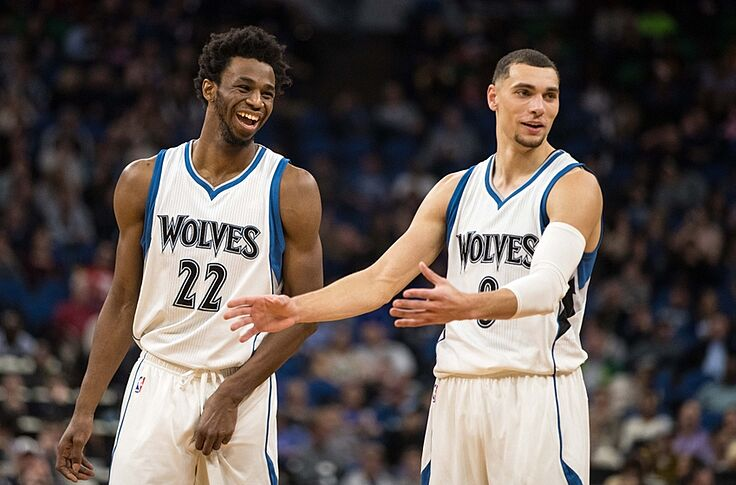 hot sale online 4f2b6 482ec Minnesota Timberwolves: Andrew Wiggins, Zach LaVine Have ...