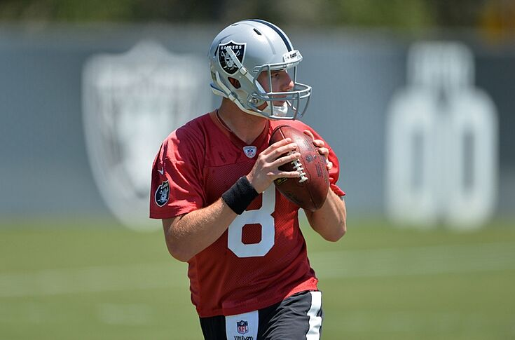low priced 8a707 b7d4f Oakland Raiders Rumors: Connor Cook No. 2 on depth chart