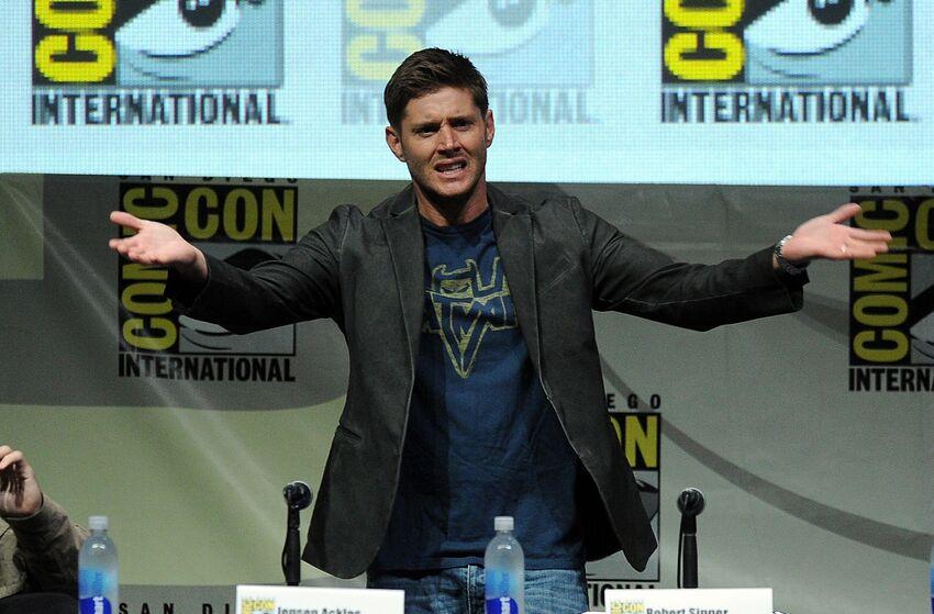 SAN DIEGO, CA - JULY 21: Actor Jensen Ackles speaks onstage at the
