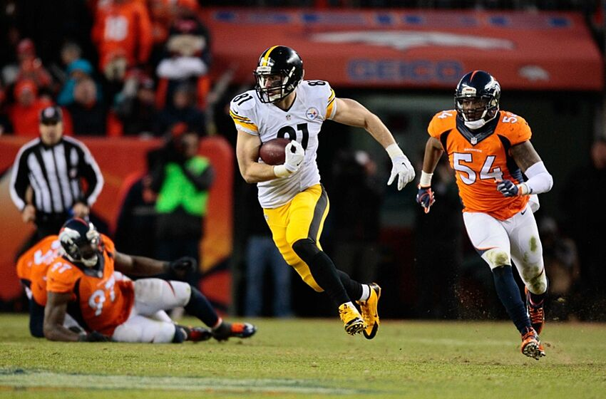 2778636a Jan 17, 2016; Denver, CO, USA; Pittsburgh Steelers tight end Jesse