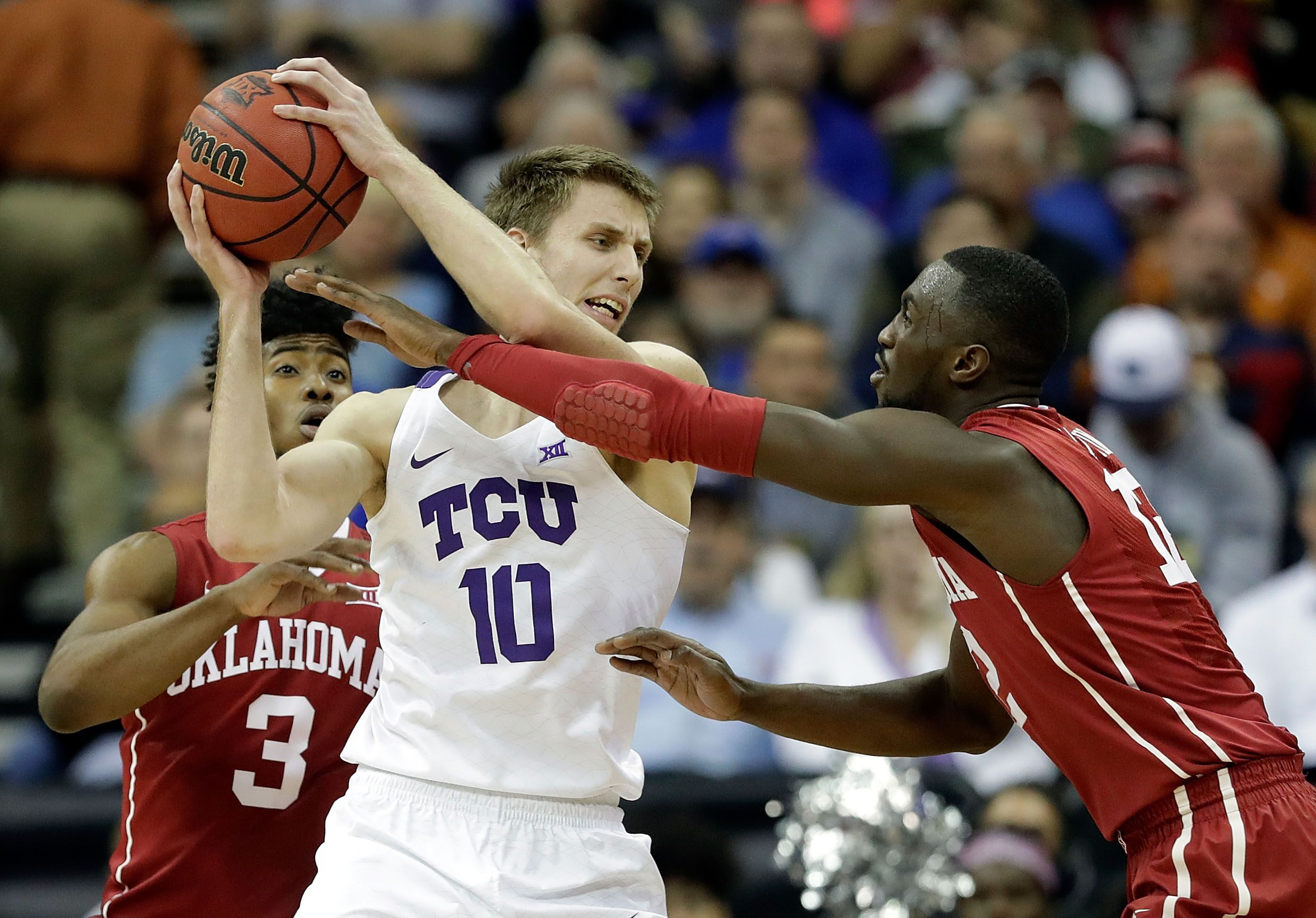 Image result for Oklahoma vs TCU basketball Live pic logo