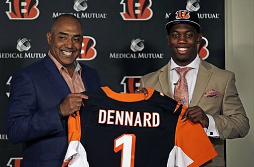 412f52ff1 Bengals 2014 1st round draft pick Darqueze Dennard and coach Marvin Lewis