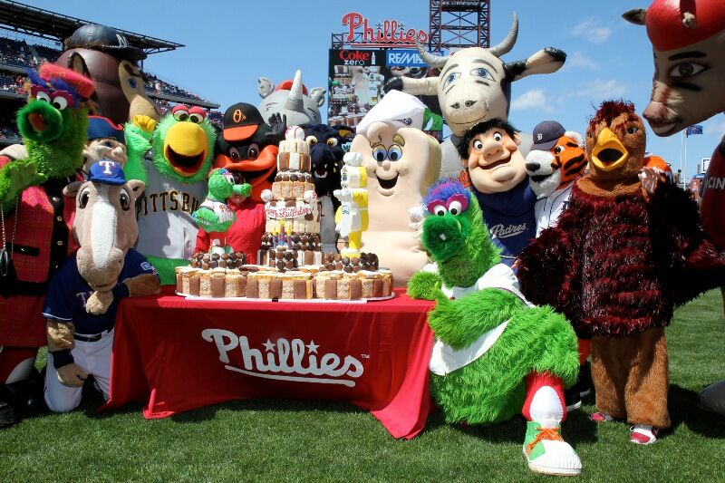 Image result for phillie phanatic birthday