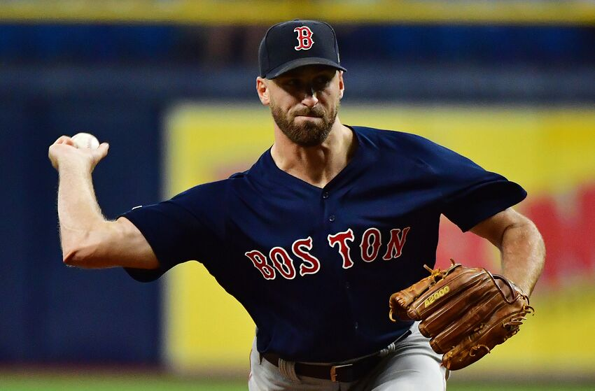 ST PETERSBURG, FLORIDA - SEPTEMBER 20: Trevor Kelley #71 of the Boston Red Sox pitches to the Tampa Bay Rays during the eleventh inning of a baseball game at Tropicana Field on September 20, 2019 in St Petersburg, Florida. (Photo by Julio Aguilar/Getty Images)