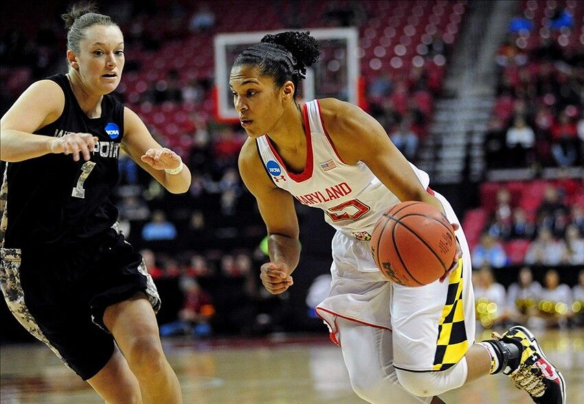 Alyssa Thomas becomes Maryland's All-Time Scoring Leader in win against Army