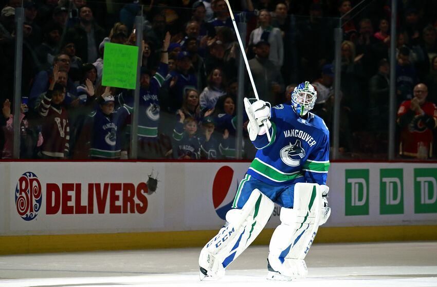 750b1cab9 The Vancouver Canucks  goalie carousel of this season