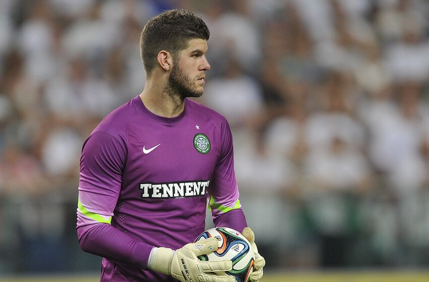 WARSAW, POLAND - JULY 30: Goalkeeper Fraser Forster of Celtic during the third qualifying round UEFA Champions League match between Legia and Celtic at Pepsi Arena on July 30, 2014 in Warsaw, Poland. (Photo by Piotr Hawalej/Getty Images)