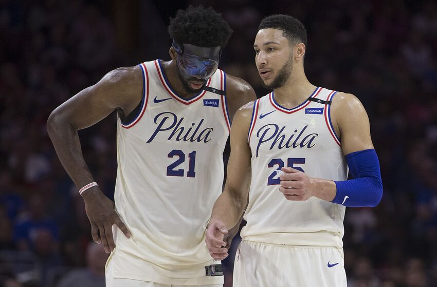 Joel Embiid & Ben Simmons | Philadelphia 76ers (Photo by Mitchell Leff/Getty Images)