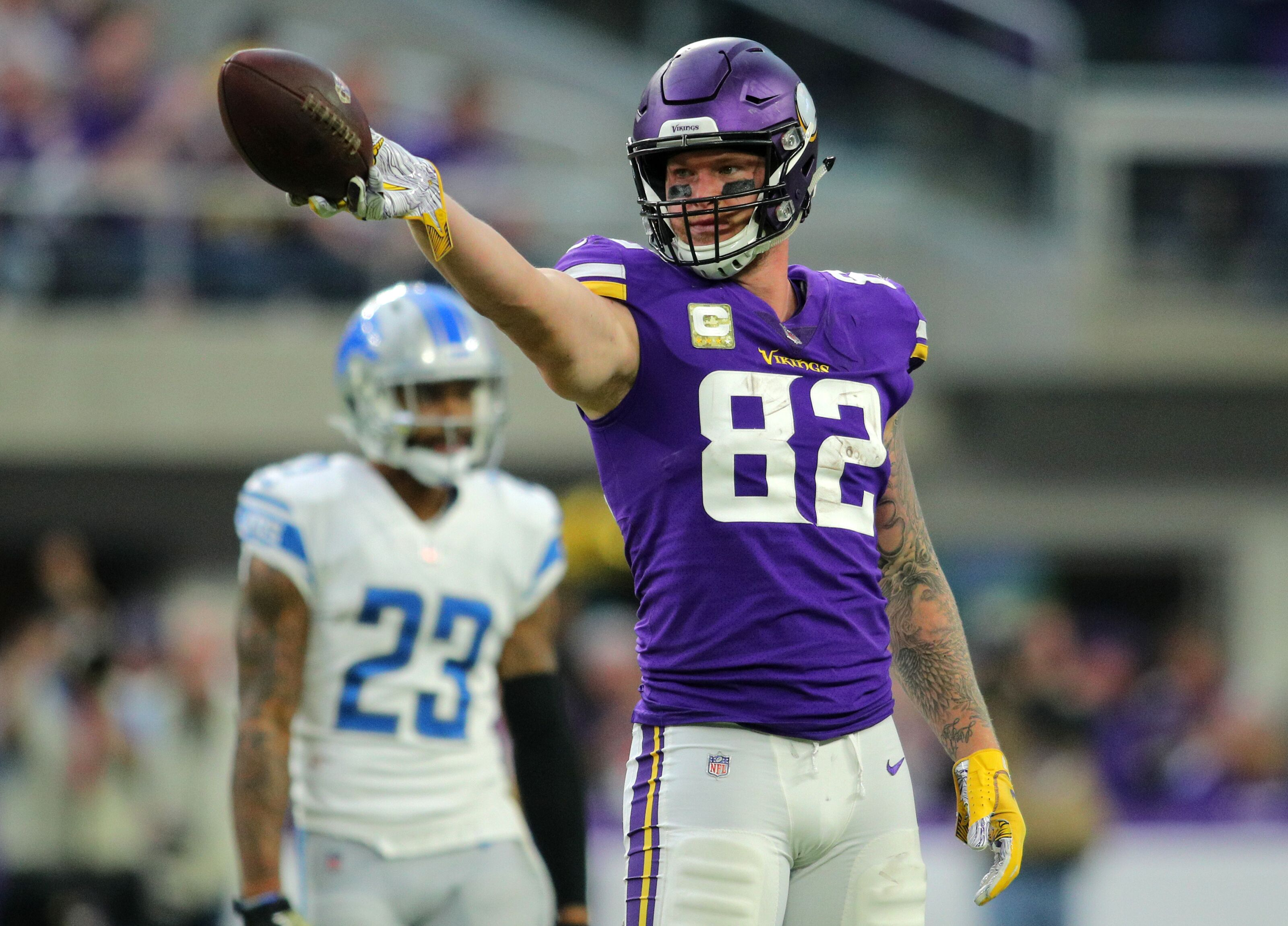 Kyle Rudolph named Vikings' Walter Payton Man of the Year Nominee