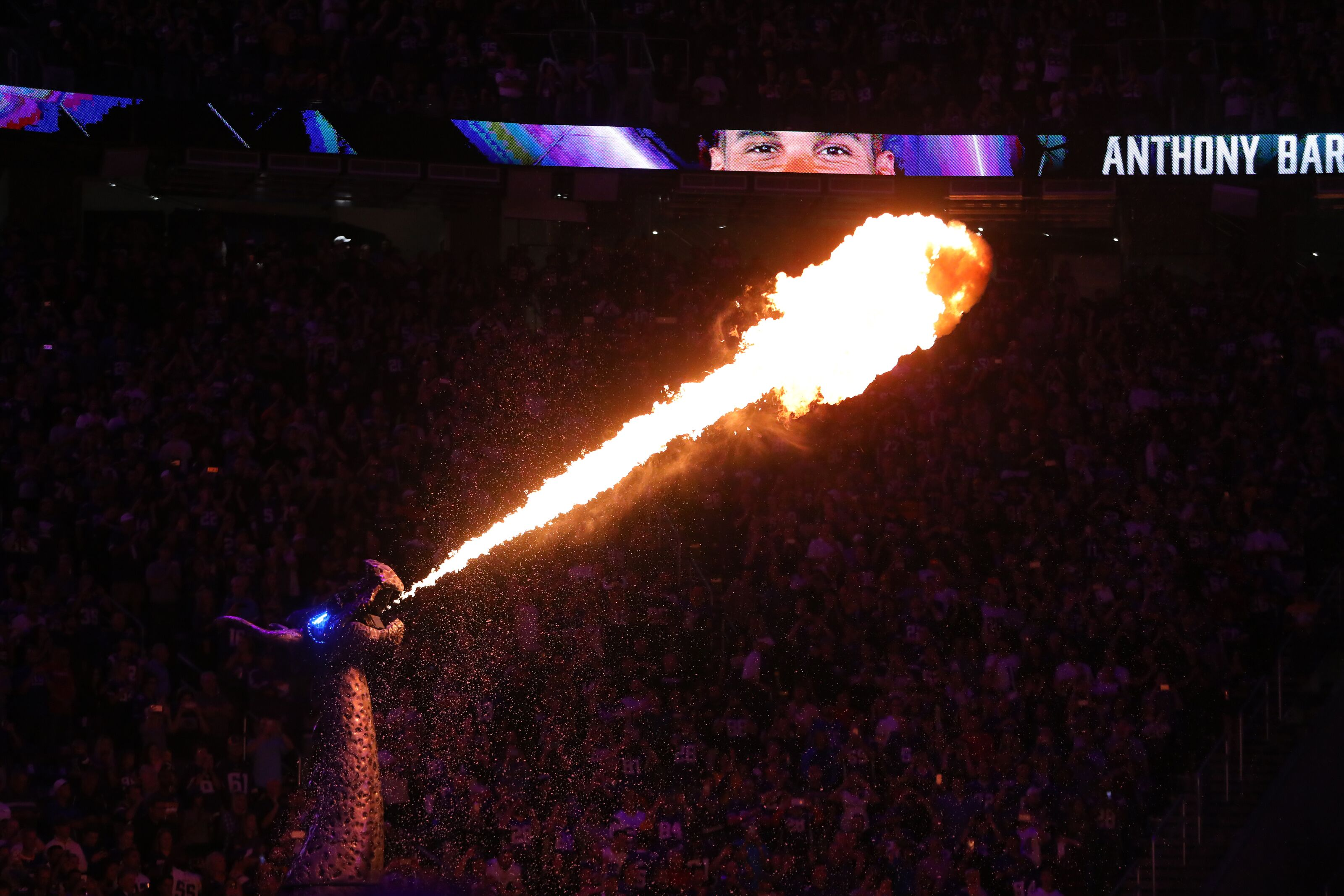 That one time a fan caught on fire during a Vikings game
