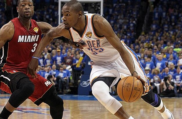 8f47d3149a1 Kevin Durant scores 36 as Thunder beat Heat 105-94 in Game 1 of the NBA  Finals