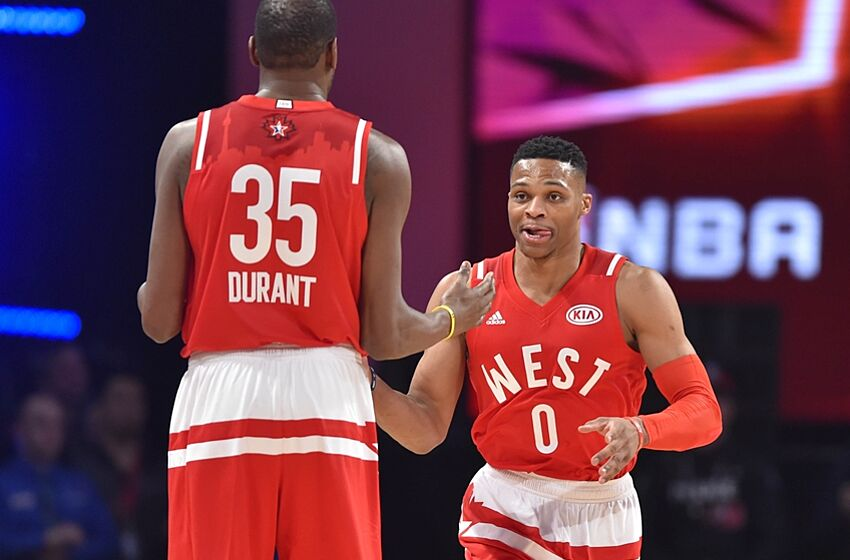 8177be88a59 Feb 14, 2016; Toronto, Ontario, CAN; Western Conference guard Russell  Westbrook