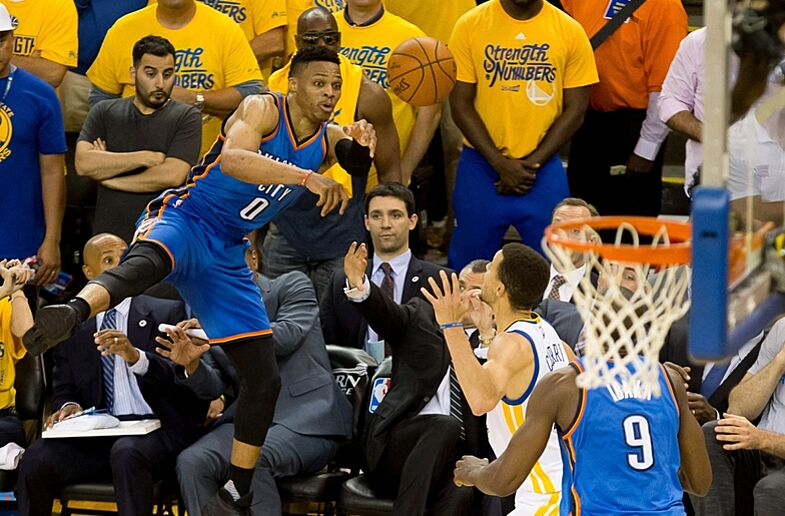 Russell Westbrook challenge with Oklahoma City Thunder cdbf28ad8