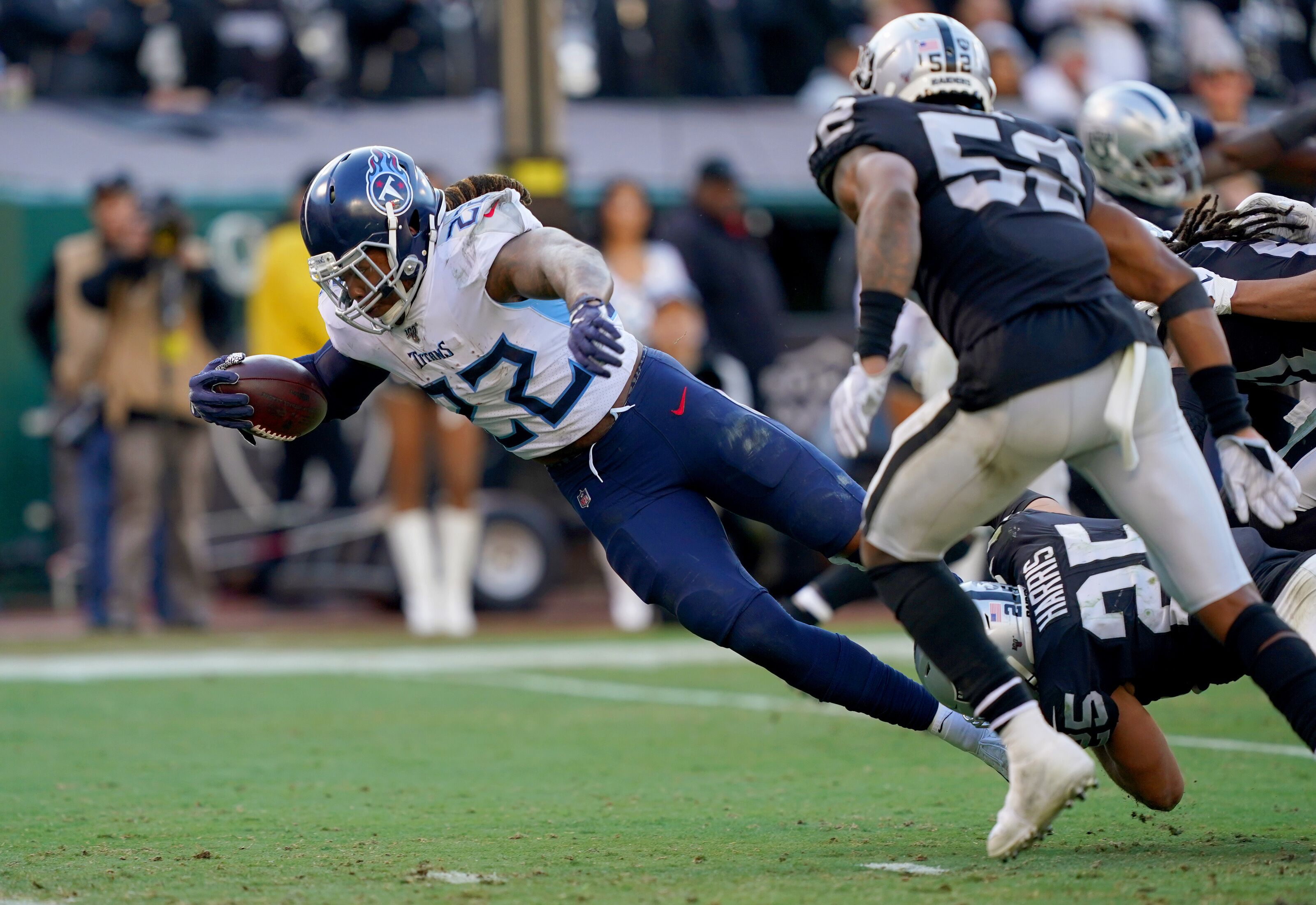 Derrick Henry reacts to playing through injury during Titans Week 14 win