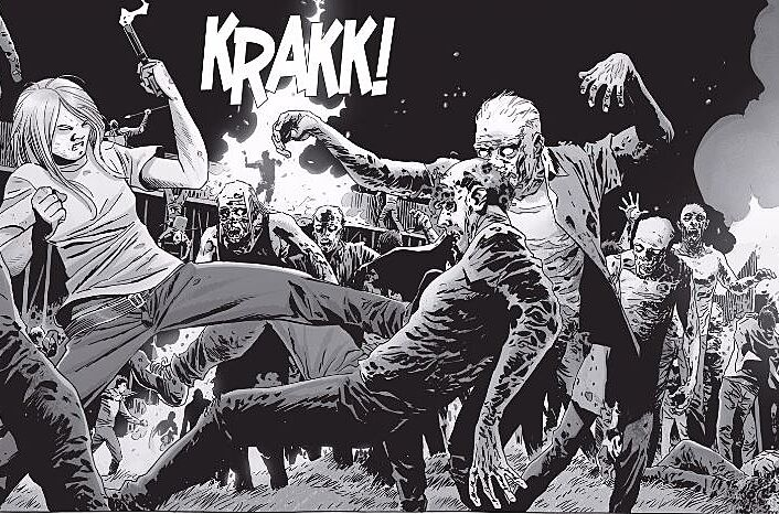 Image result for walking dead comic fight