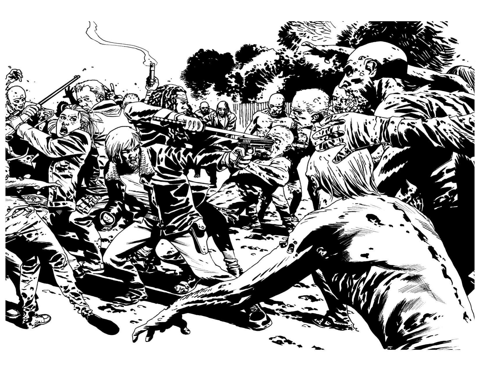 The Walking Dead Coloring Book Sale At Skybound