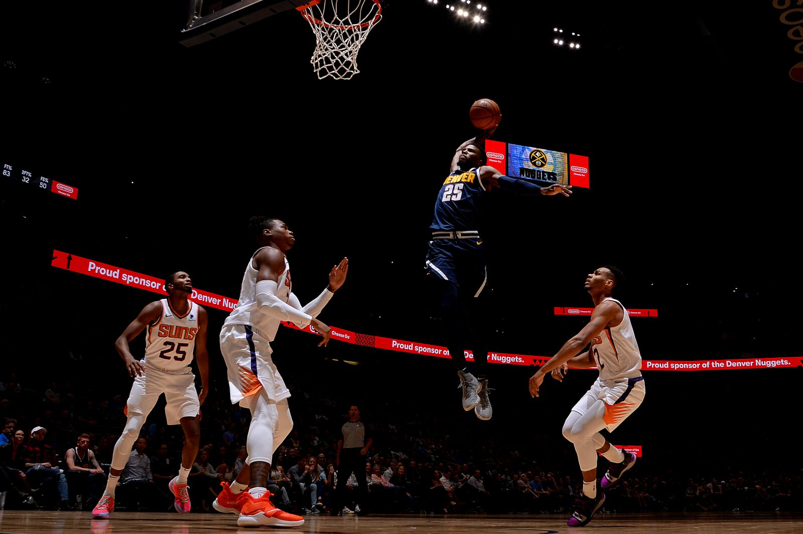 Phoenix Suns Denver Nuggets (Photo by Bart Young/NBAE via Getty Images)