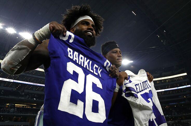 new arrival 7056b a9c55 Penn State football: Saquon Barkley tops Ezekiel Elliott in ...