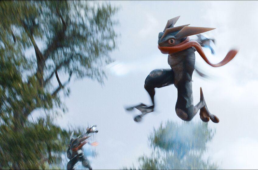 Greninja in Legendary Pictures' and Warner Bros. Pictures' comedy adventure