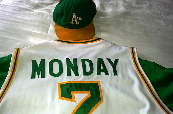 new arrival 6d5f0 154cd Oakland Athletics Throwback Thursday: Outfielder Rick Monday