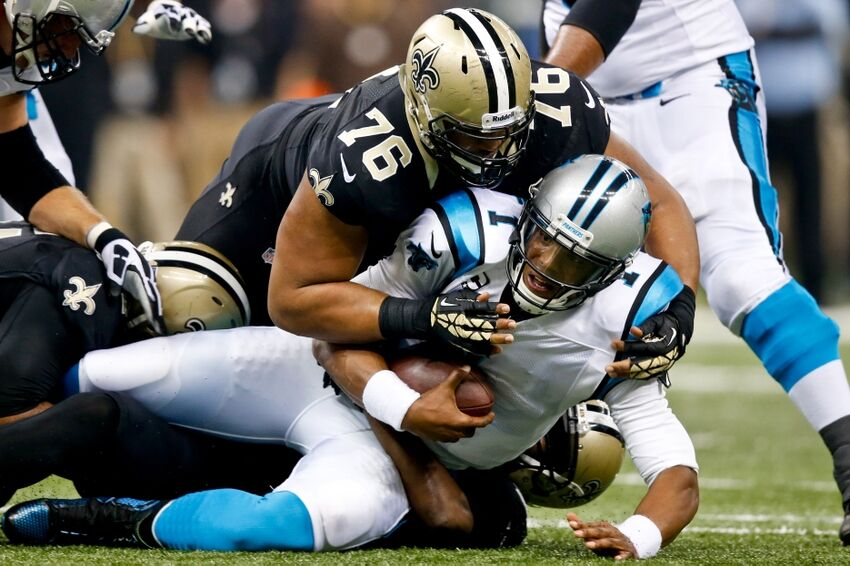 Image result for saints sack cam newton