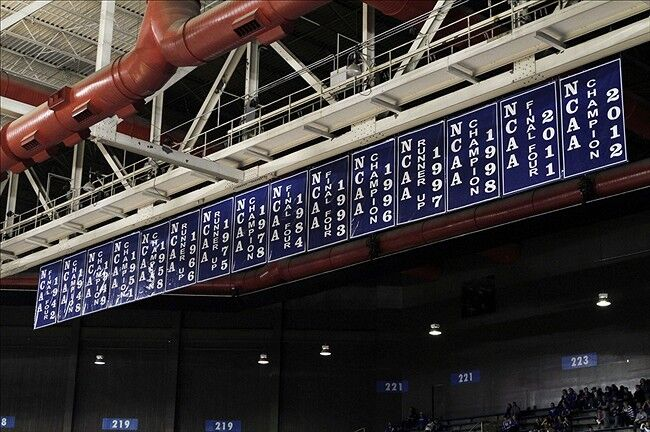 Rupp Arena Rafters Getting Painted Blue: University Of Kentucky Basketball: Hanging In The Rafters