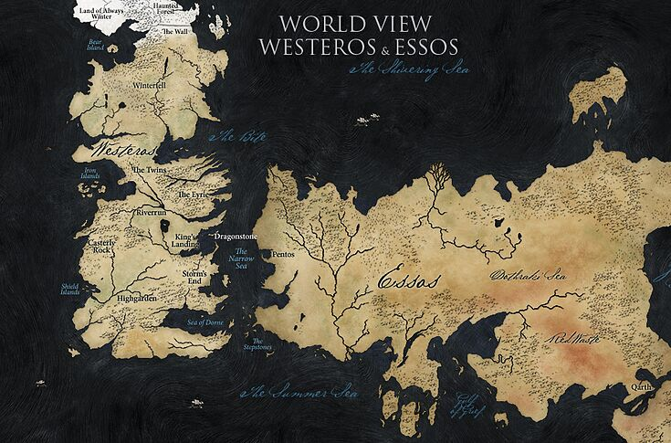 Map shows vast distances Game of Thrones characters travel