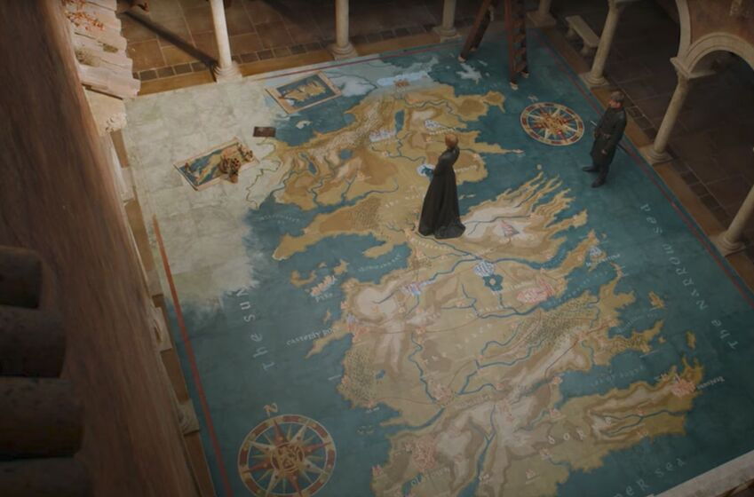 Producers hint at how cerseis map room in game of thrones season 8 speculation why is cersei meeting with spoiler during season 8 by corey smith gumiabroncs Gallery