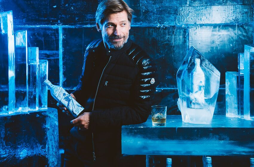 Game of Thrones star Nikolaj Coster-Waldau enjoys an exclusive first sip of the new, limited-edition White Walker by Johnnie Walker blend in anticipation of the show's 8th and final season. Photo: Jose Silva.