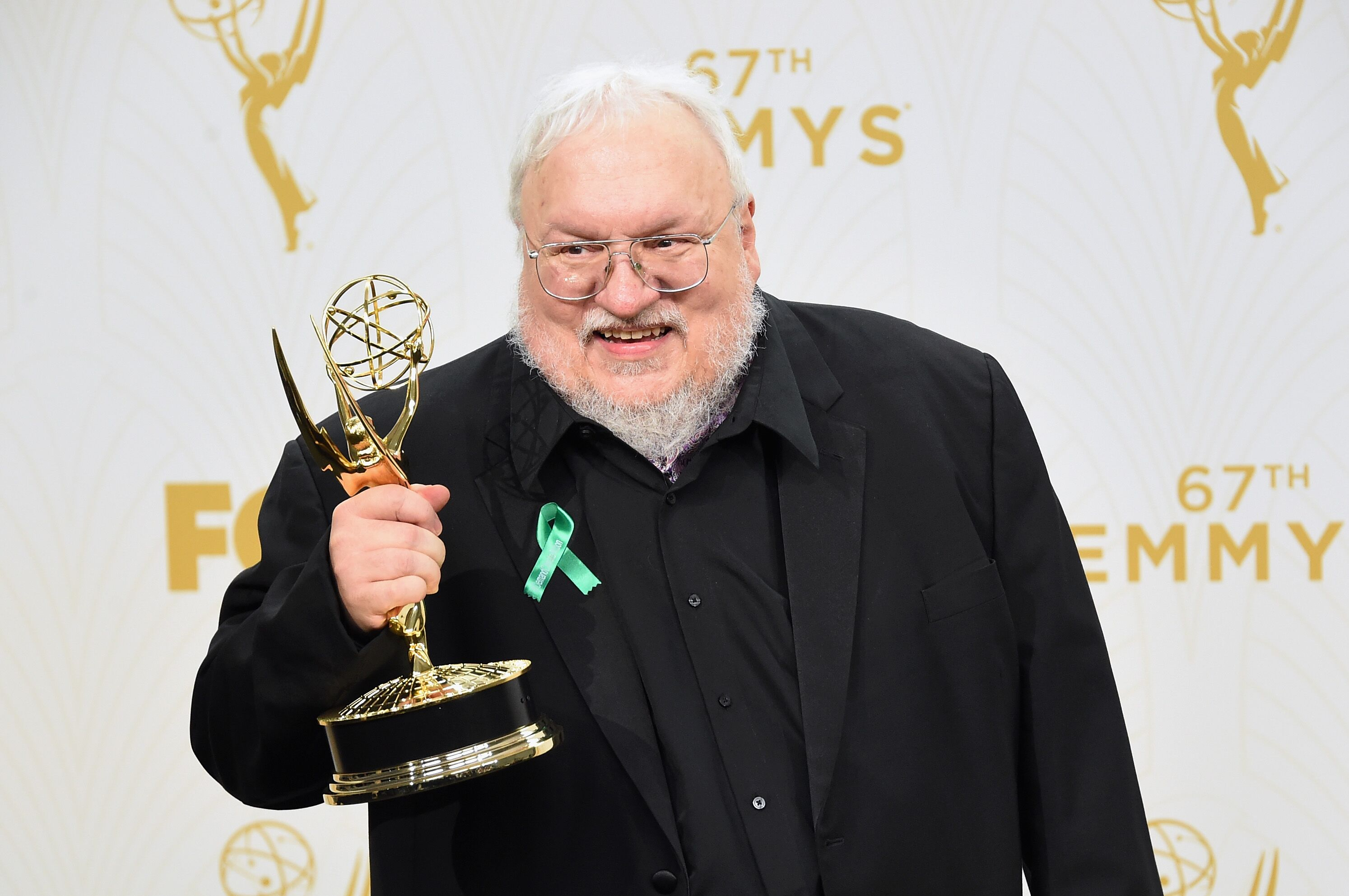 LOS ANGELES, CA - SEPTEMBER 20: Writer George R. R. Martin, winner of Outstanding Drama Series for'Game of Thrones', poses in the press room at the 67th Annual Primetime Emmy Awards at Microsoft Theater on September 20, 2015 in Los Angeles, California. (Photo by Jason Merritt/Getty Images)