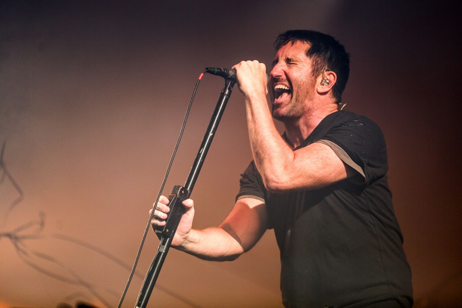 Los Angeles Ca July 23 Trent Reznor Of Nine Inch Nails Performs Onstage