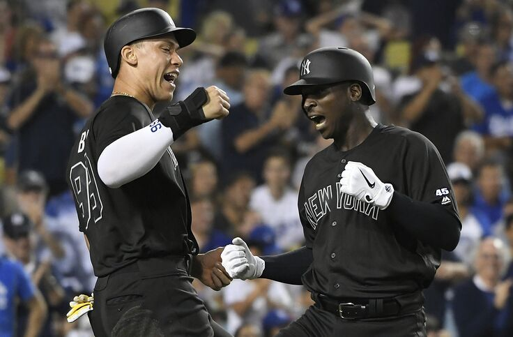 super popular 561b0 910bf Yankees jump all over Dodgers in Game 1 of MLB Players' Weekend