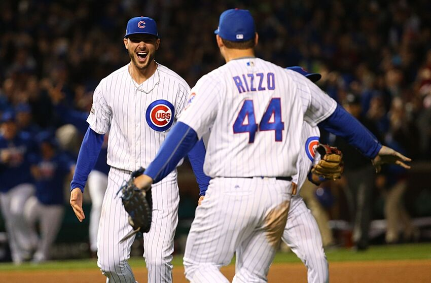 rizzo bryant cubs anthony chicago kris indians series nlcs cleveland predictions showdown bold party mlb game fan