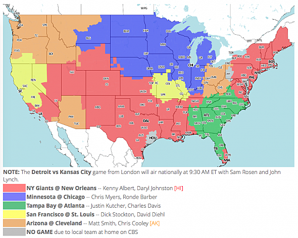 Nfl tv maps for week 8 fox early publicscrutiny Image collections