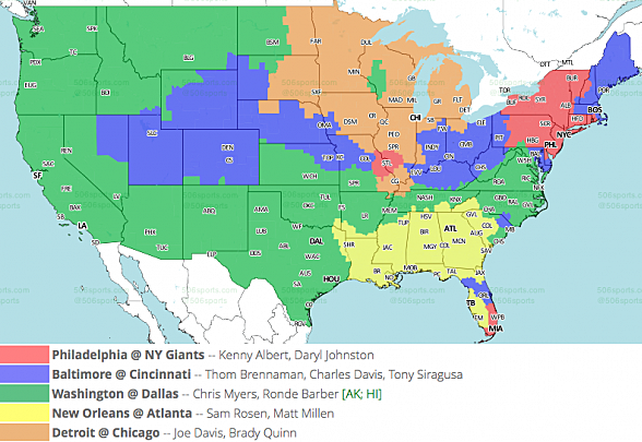 Nfl tv maps for week 17 fox early publicscrutiny Image collections